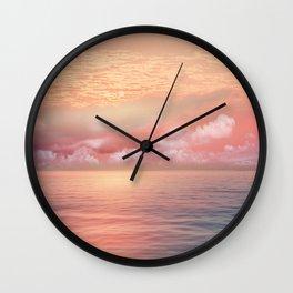 Pastel vibes 55 Wall Clock