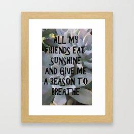 Plants for Friends Framed Art Print