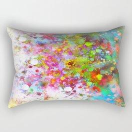 Color Splash abstract art by Ann Powell Rectangular Pillow