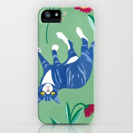 Cat in the Wildflowers iPhone Case