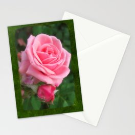 Pink Roses in Anzures 2 Blank P1F0 Stationery Cards