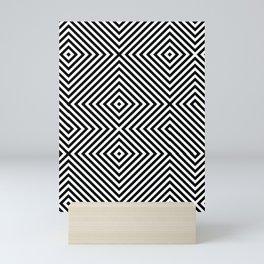 Crossing Diagonal Striped Mini Art Print