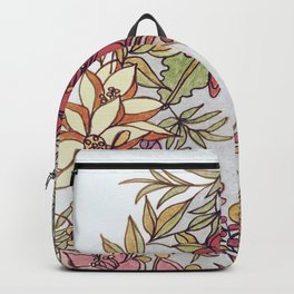 Hummingbird In Flowery Garden Wreath Backpack