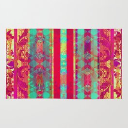 Moroccan Magenta and Turquoise Rug