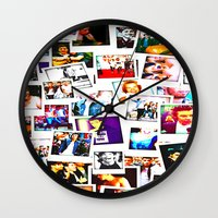 1d Wall Clocks featuring POLAROID ONE DIRECTION 1D by BESTIPHONE5CASESHOP