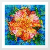 reassurance Art Prints featuring Flower III by Magdalena Hristova