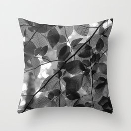 Looking up in the Woods Throw Pillow