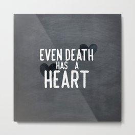 The Book Thief - Even Death Has a Heart Metal Print