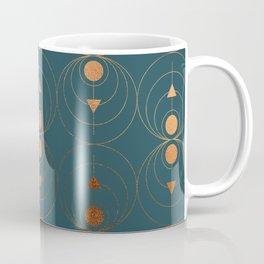 Copper Art Deco on Emerald Coffee Mug