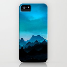 Night Storm In The Mountains iPhone Case