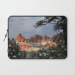 Red Rocks and Snow Laptop Sleeve