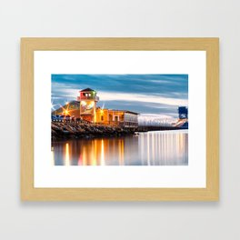 Crab Shack on the James just after sunset. Framed Art Print
