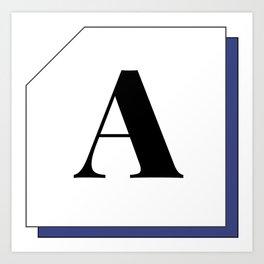 Capital letter A Art Print