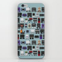 gamer iPhone & iPod Skins featuring Gamer by James Brunner