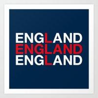 england Art Prints featuring ENGLAND by eyesblau
