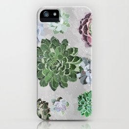 Simple succulents iPhone Case
