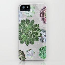 Simple succulents iPhone Case