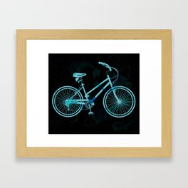 The Tattoo Bycicles - Black and Blue Koi on Blue and Black Framed Art Print
