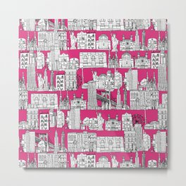New York pink Metal Print