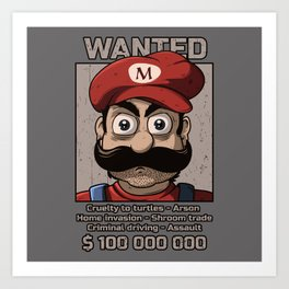 Wanted plumber Art Print