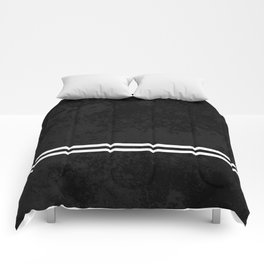 Infinite Road - Black And White Abstract Comforters