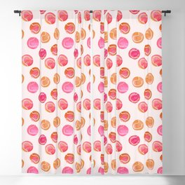 Tennis Balls / Coral / Pink / Pattern Watercolor Blackout Curtain