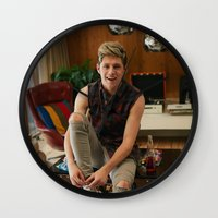 niall horan Wall Clocks featuring Niall Horan by behindthenoise