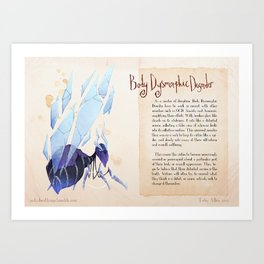 Real Monsters- Body Dysmorphic Art Print