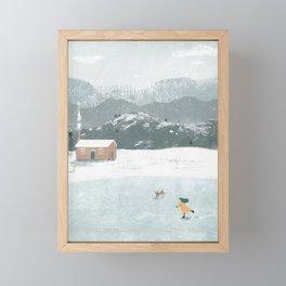 Snow Day Framed Mini Art Print