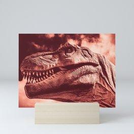 Dinosaur sephia Mini Art Print