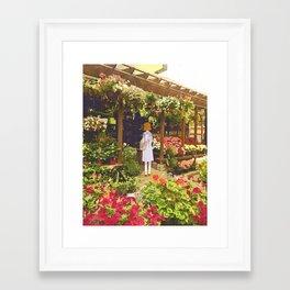 Flower shop Framed Art Print