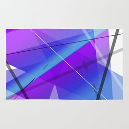 Electric Violet Geometric Abstract Art Rug