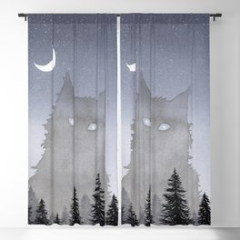Giant Forest Cat Blackout Curtain