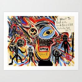 I believe in a brighter future for us Graffiti Street Art by Emmanuel Signorino Art Print
