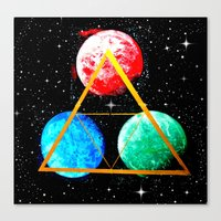 triforce Canvas Prints featuring Triforce by AbstractAnomaly