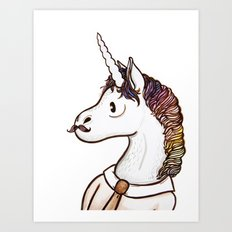 Doctor Unicorn Art Print