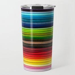 Indian Summer Colors Stripe Travel Mug