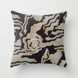 Golden Black – a Touch of Drama Throw Pillow