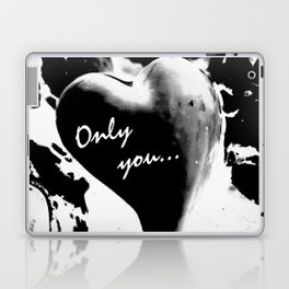 Heart in black Laptop & iPad Skin