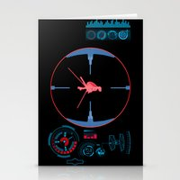 nasa Stationery Cards featuring Tie Fighter Meets NASA Voyager 1 by Ryan Huddle House of H