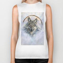 Dreamcatcher - Spirit Animal Wolf Biker Tank
