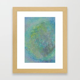 abstract in tie dye colors Framed Art Print