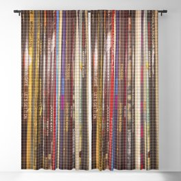 vinyl stripes Blackout Curtain