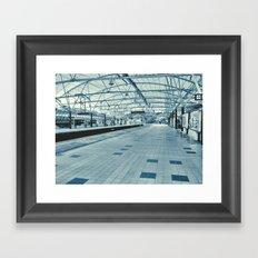 LRT Station  Framed Art Print