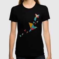 Fly Away Black MEDIUM Womens Fitted Tee