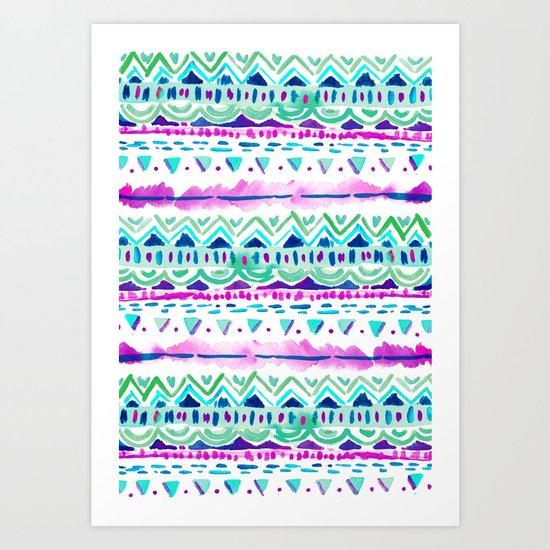 Dash Aztec Art Print