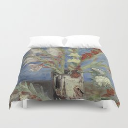 Vincent Van Gogh - Vase with Chinese Asters and Gladioli Duvet Cover