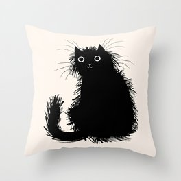Moggy Throw Pillow