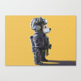 Corgi the SWAT Canvas Print