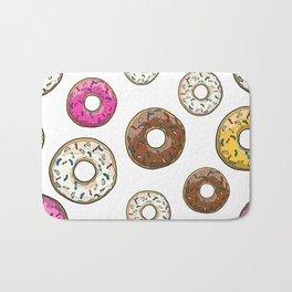 Funfetti Donuts - White Bath Mat